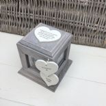 Shabby Chic PERSONALISED Rustic Wood In Memory Of WIFE Or ANY NAME Photo Cube - 332869784896